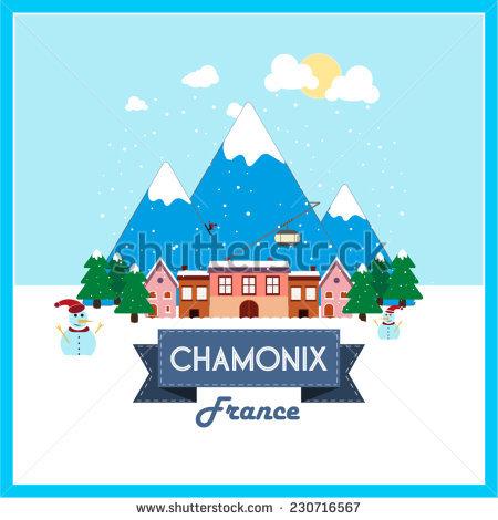 Chamonix Ski Stock Vectors & Vector Clip Art.
