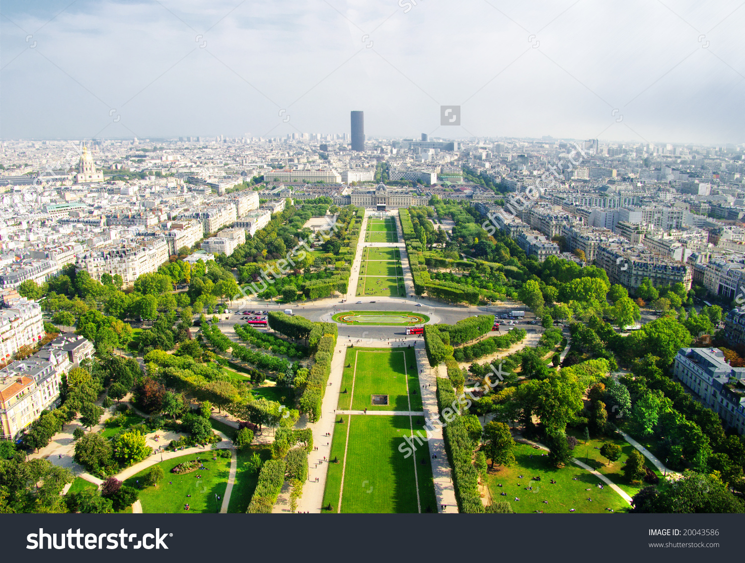View Eiffel Tower On Famous Champs Stock Photo 20043586.