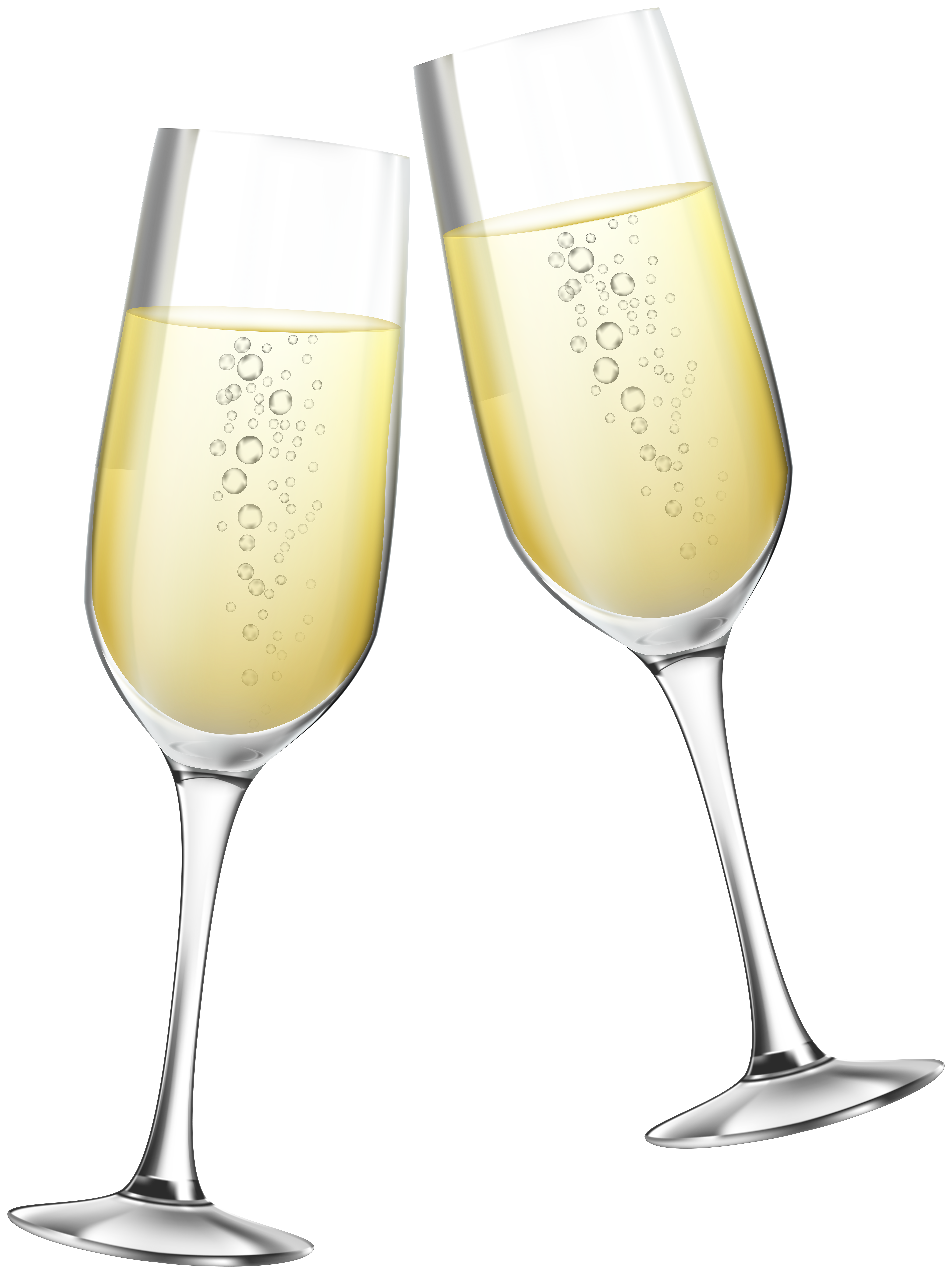 Toast with Glasses of Champagne Clipart.
