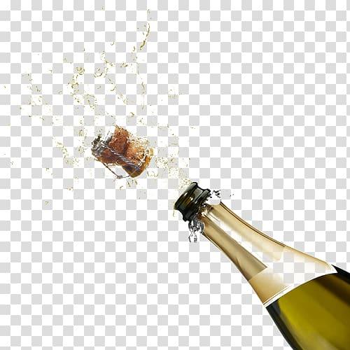 Champagne Wine Beer Juice Drink, champagne bottle transparent.