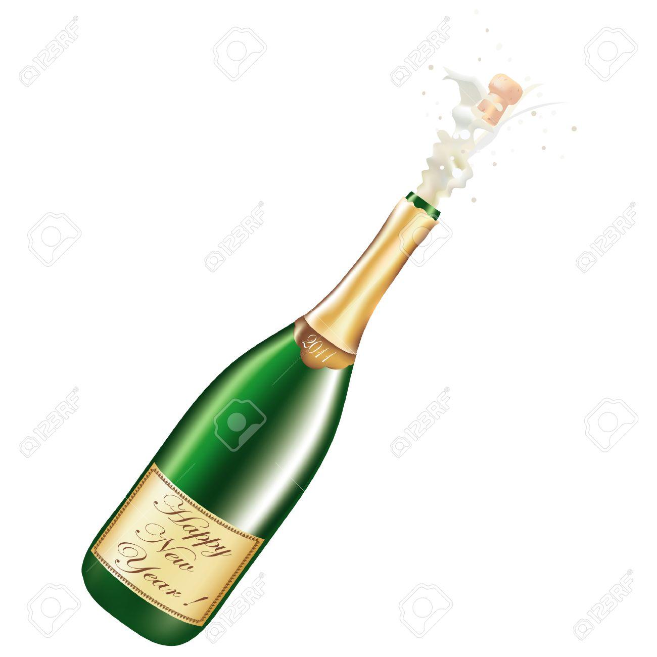 Champagne bottle clipart 6 » Clipart Station.