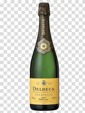 Delbeck Champagne bottle, Delbeck Brut Héritage transparent.