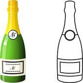 Image result for champagne bottle clipart.