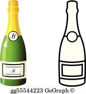 Champagne Bottle Clip Art.