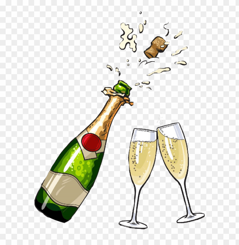 champagne bottle clipart PNG image with transparent background.