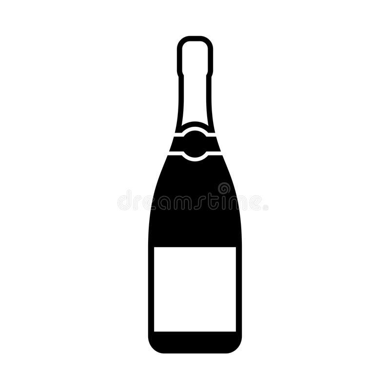 Champagne Bottle Stock Illustrations.