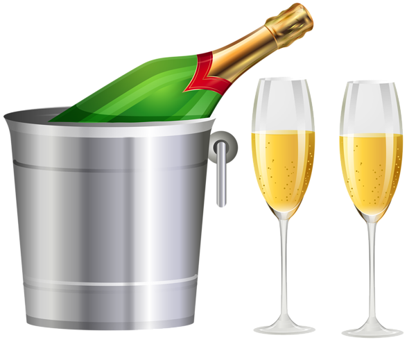 Champagne bottle and glasses transparent clip art image gallery png.