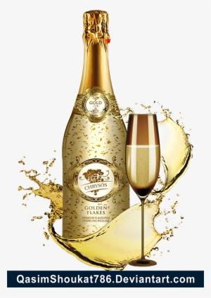 champagne bottle png #17
