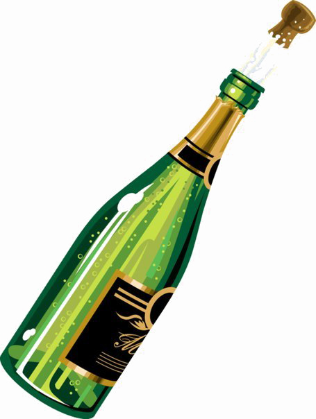 Champagne Bottle PNG Image Background.