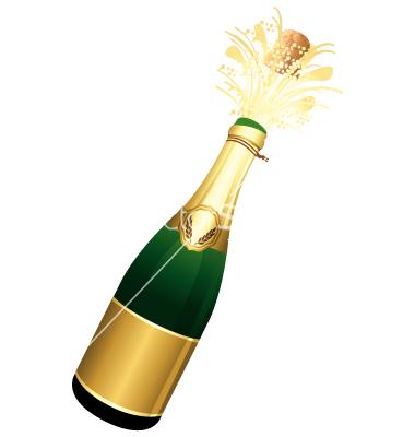Champagne bottle clip art free.