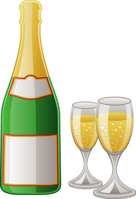 Champagne bottle clipart.