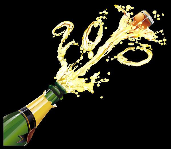 Champagne bottle image clip art.