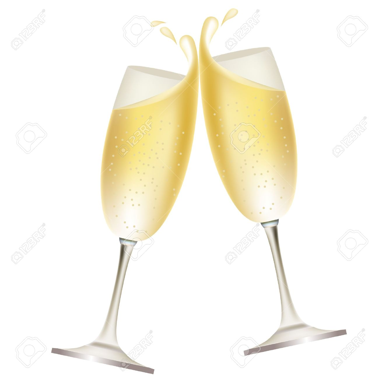 Transparant champagne clipart.