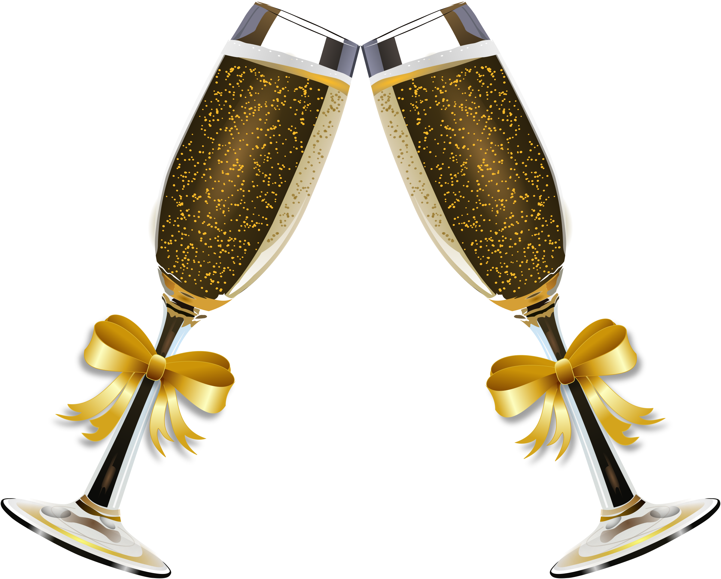 Champagne gold clipart.