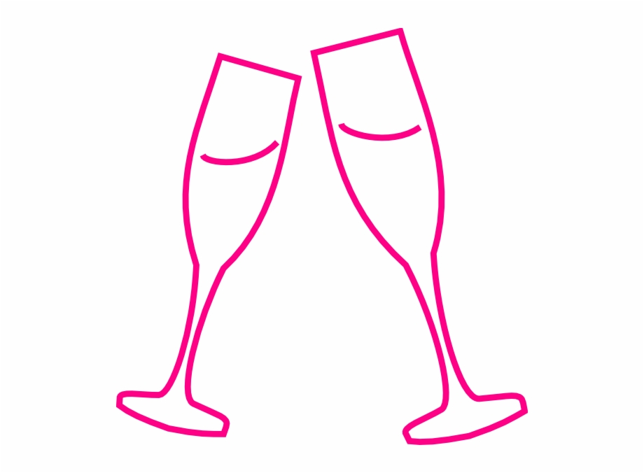Champagne Glass Pink Clip Art At Clker.