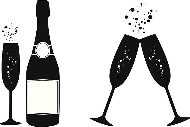 Champagne clipart black and white 3 » Clipart Station.