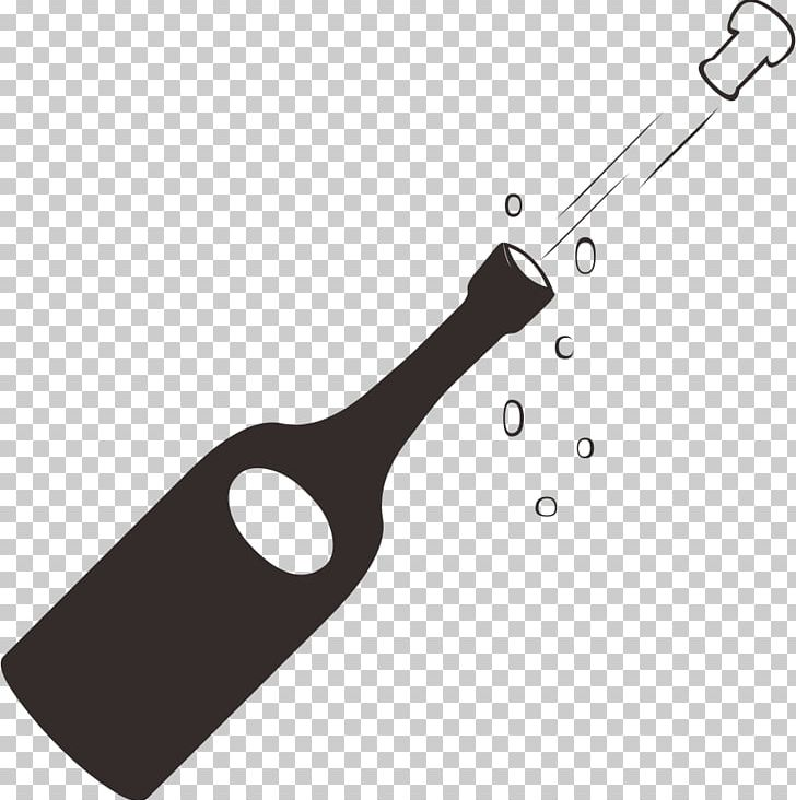 Champagne Bottle Candle PNG, Clipart, Black And White, Bottle.