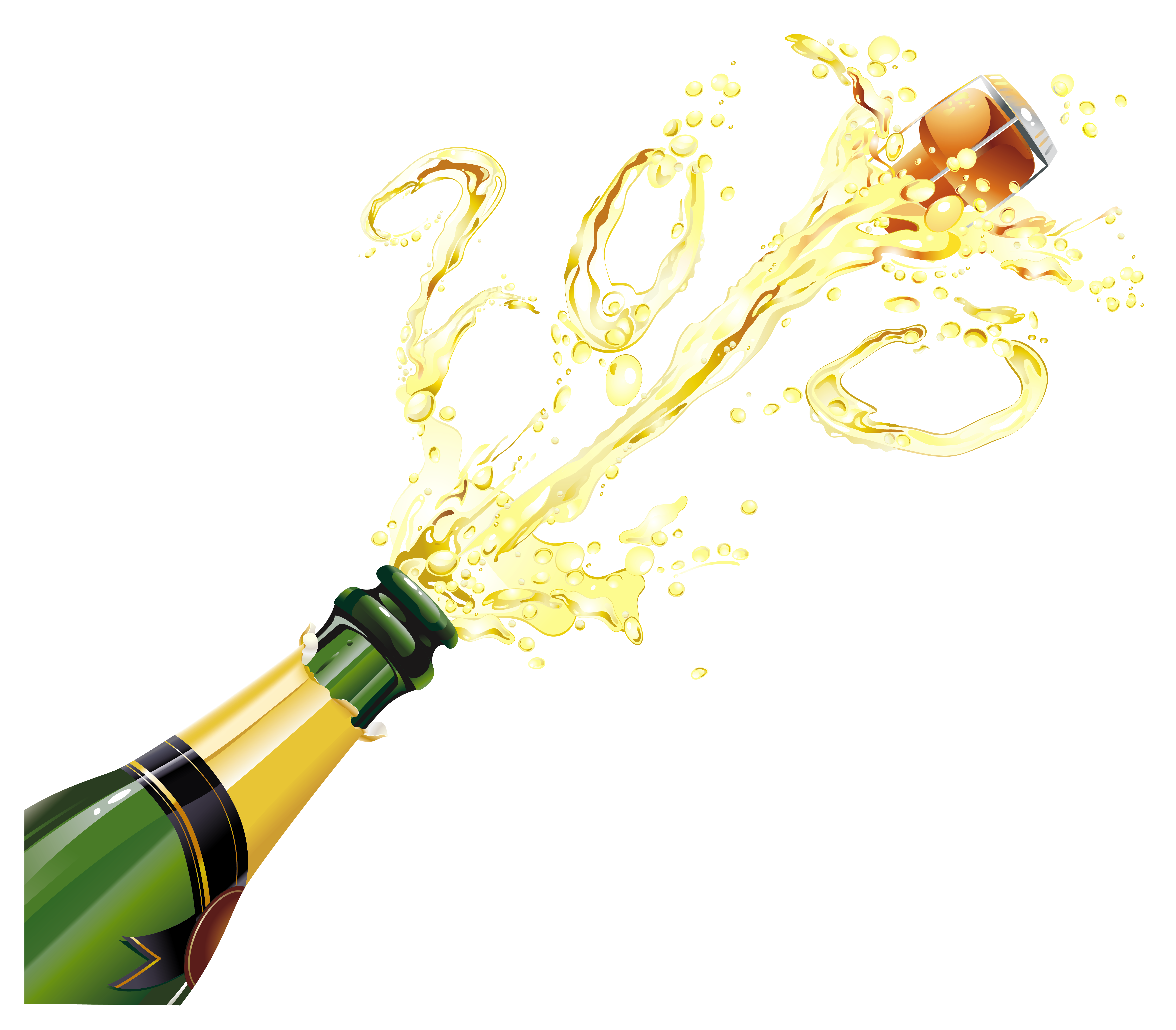 New Year Champagne PNG Clipart.