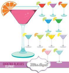 cocktails clipart.