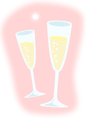 Champagne Cheers Clipart.