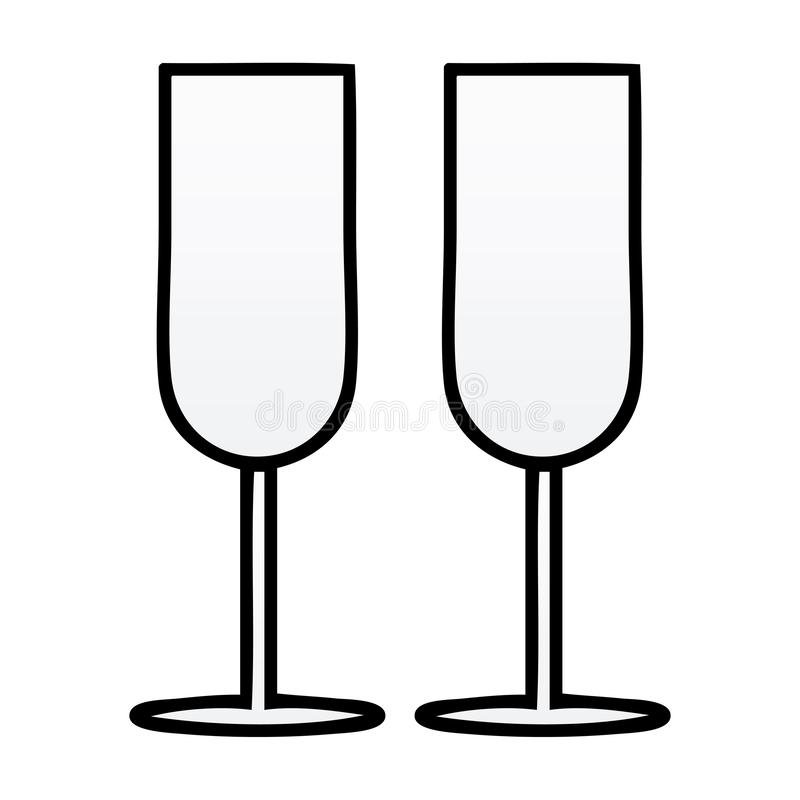 Champagne Flutes Stock Illustrations.