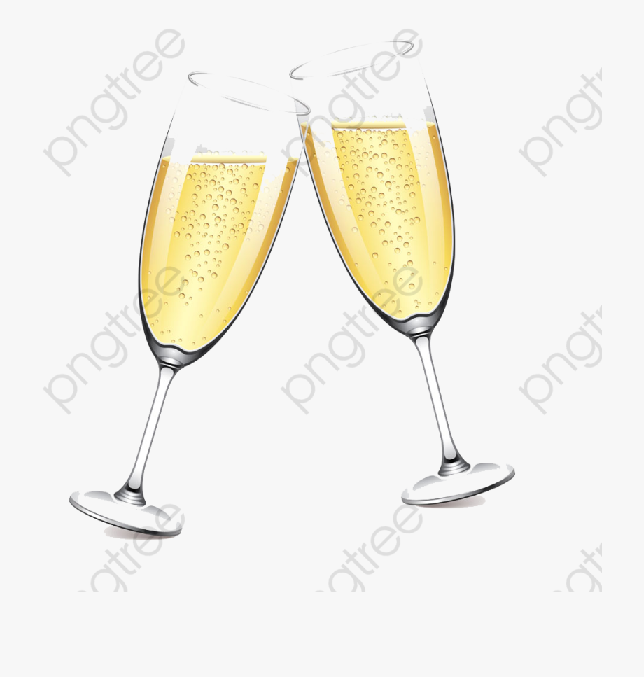 Two Glasses Of Champagne Champagne Glass Clipart Watercolor.