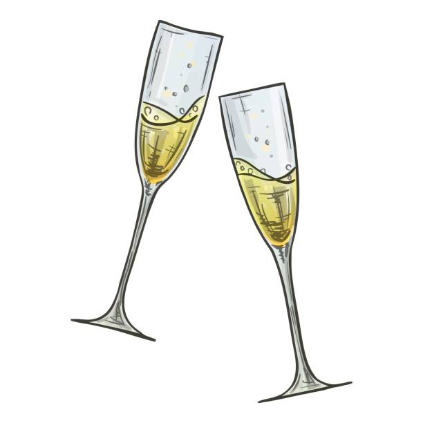 Best Champagne Glass Illustrations, Royalty.
