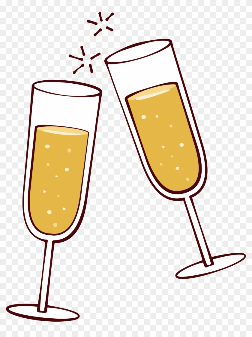 Download Free png Wine Glass Clip Art Champagne Cheers Clipart Free.