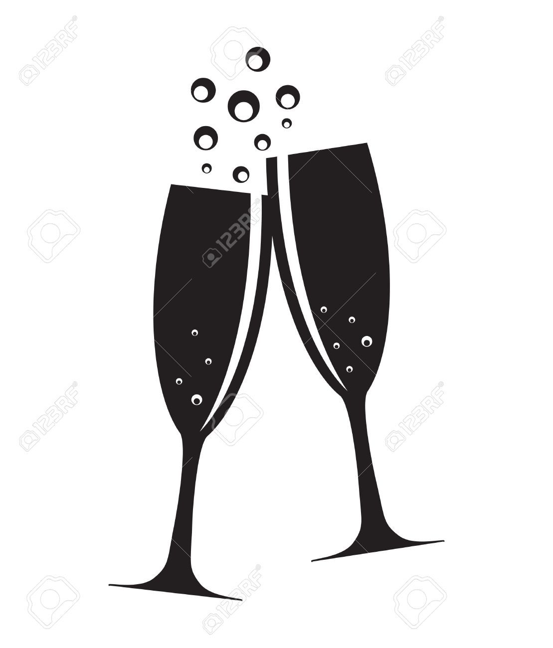 Champagne glass clipart black and white 3 » Clipart Portal.