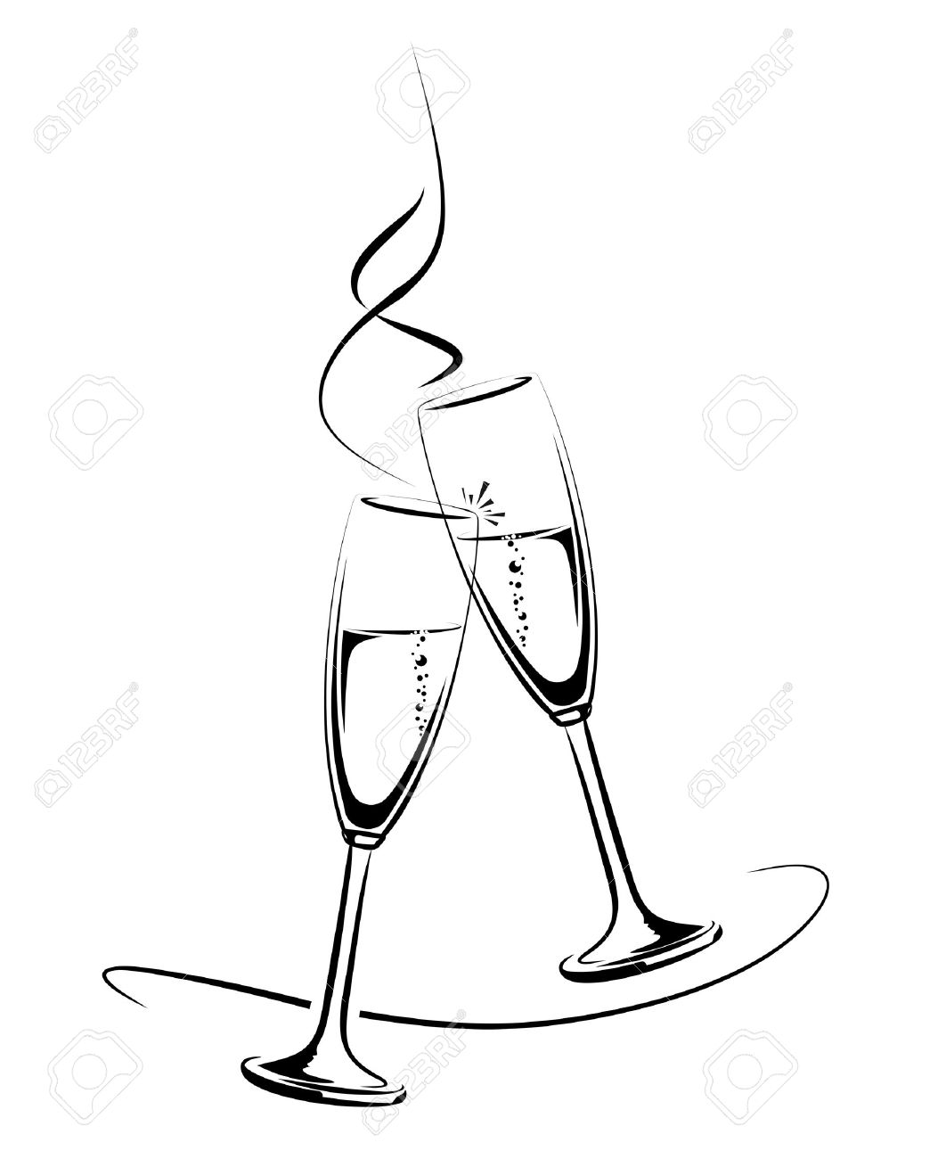 Champagne Glass Drawing_ at GetDrawings.com.