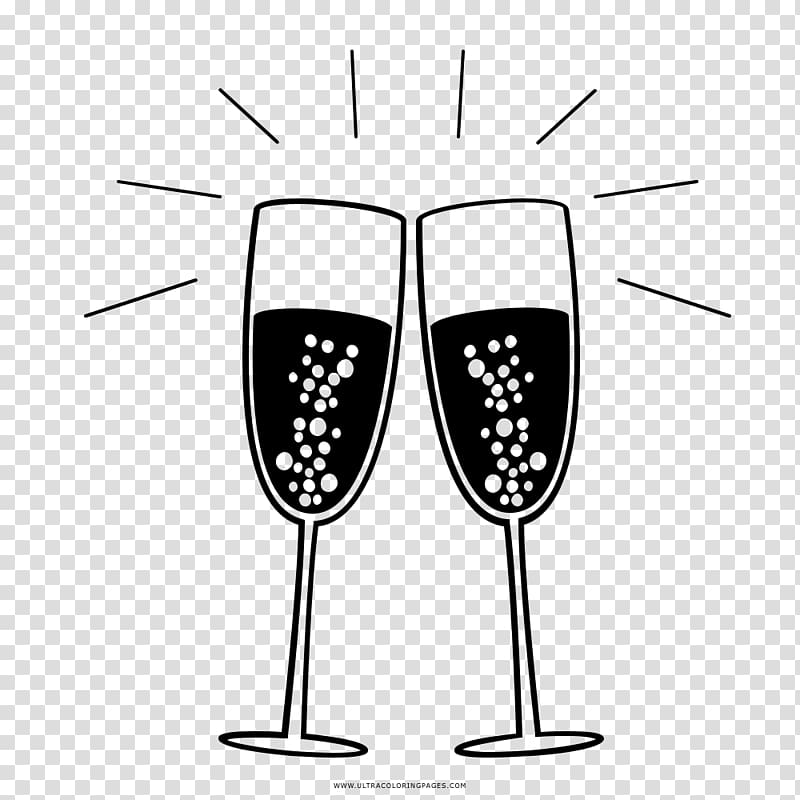 Wine glass Champagne glass Cocktail Drawing, champagne transparent.