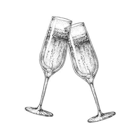 6,520 Champagne Glass Drawing Stock Vector Illustration And Royalty.