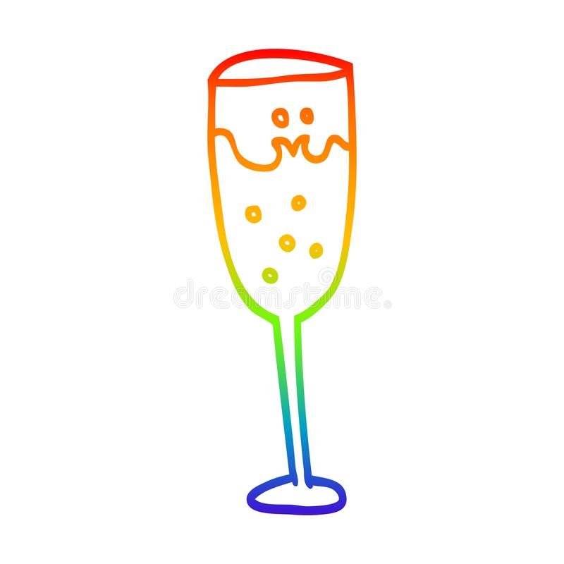 Champagne Glass Drawing Stock Illustrations.
