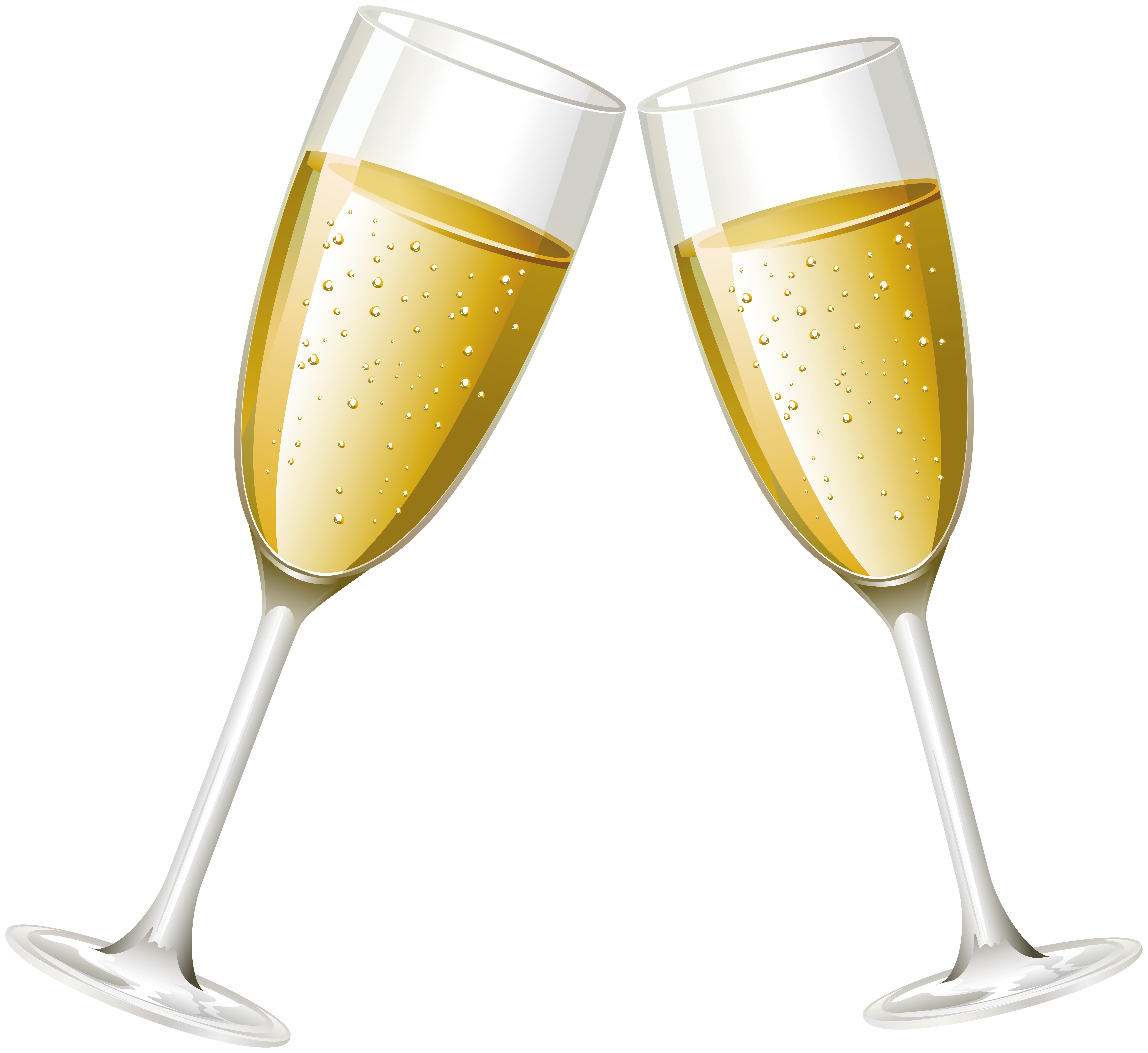 Champagne Glasses PNG Clip Art Image.
