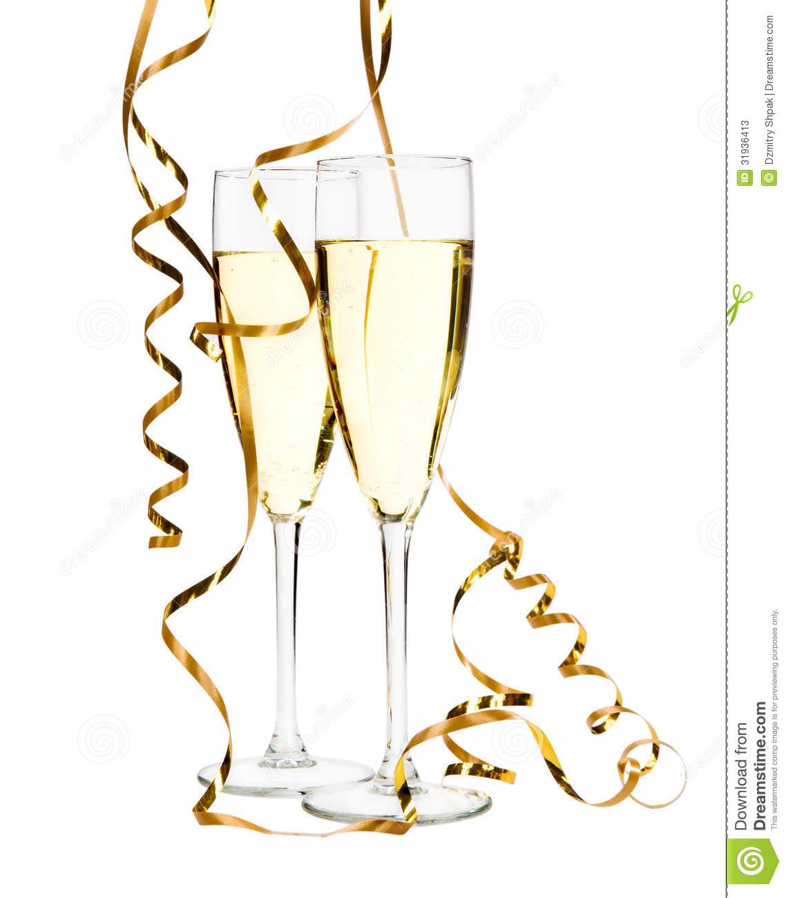 Champagne Glasses Clipart.