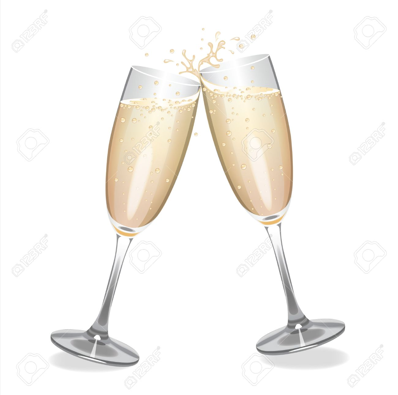 Champagne flutes clipart 1 » Clipart Station.