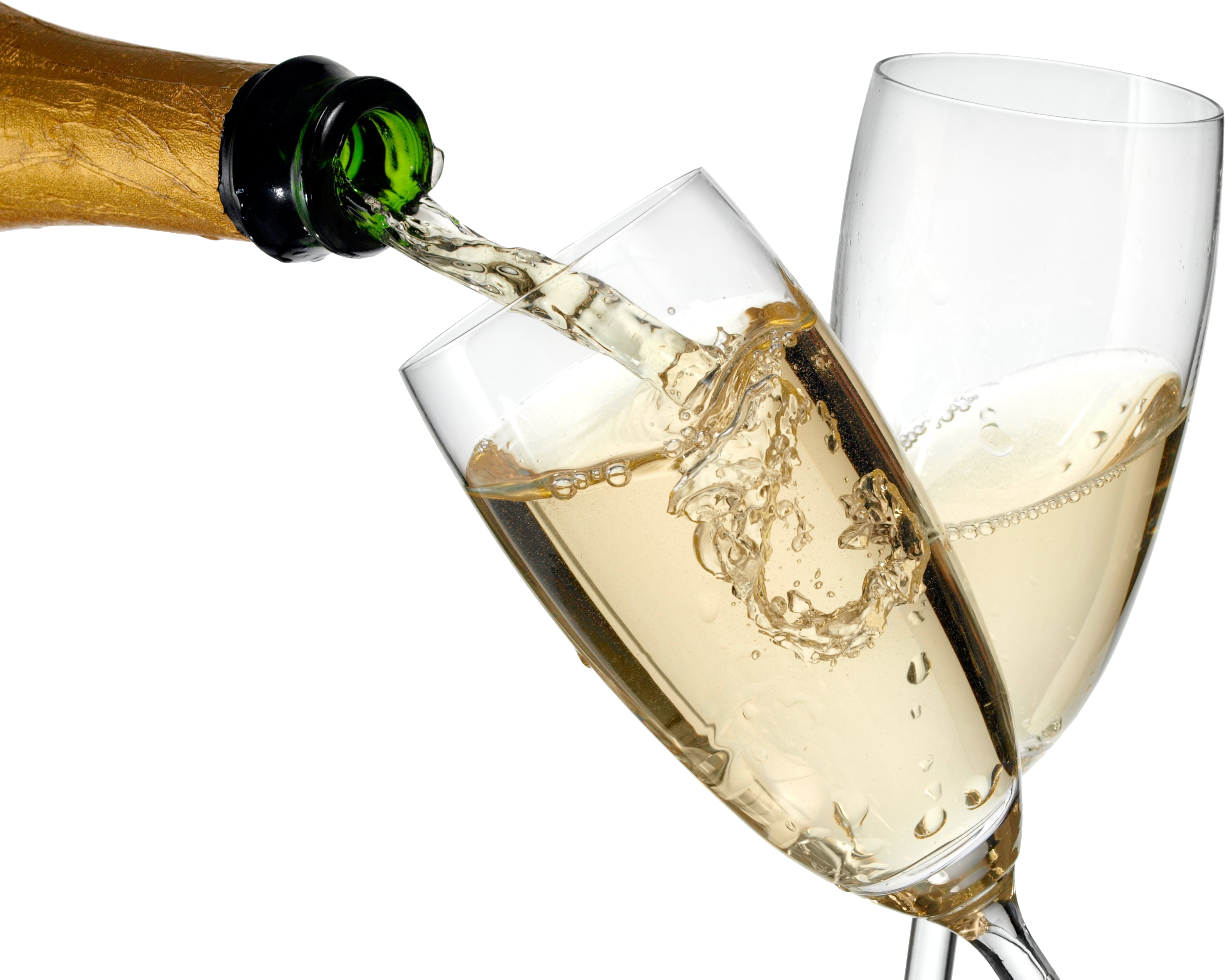 Champagne PNG images, Champagne bottle glass png.