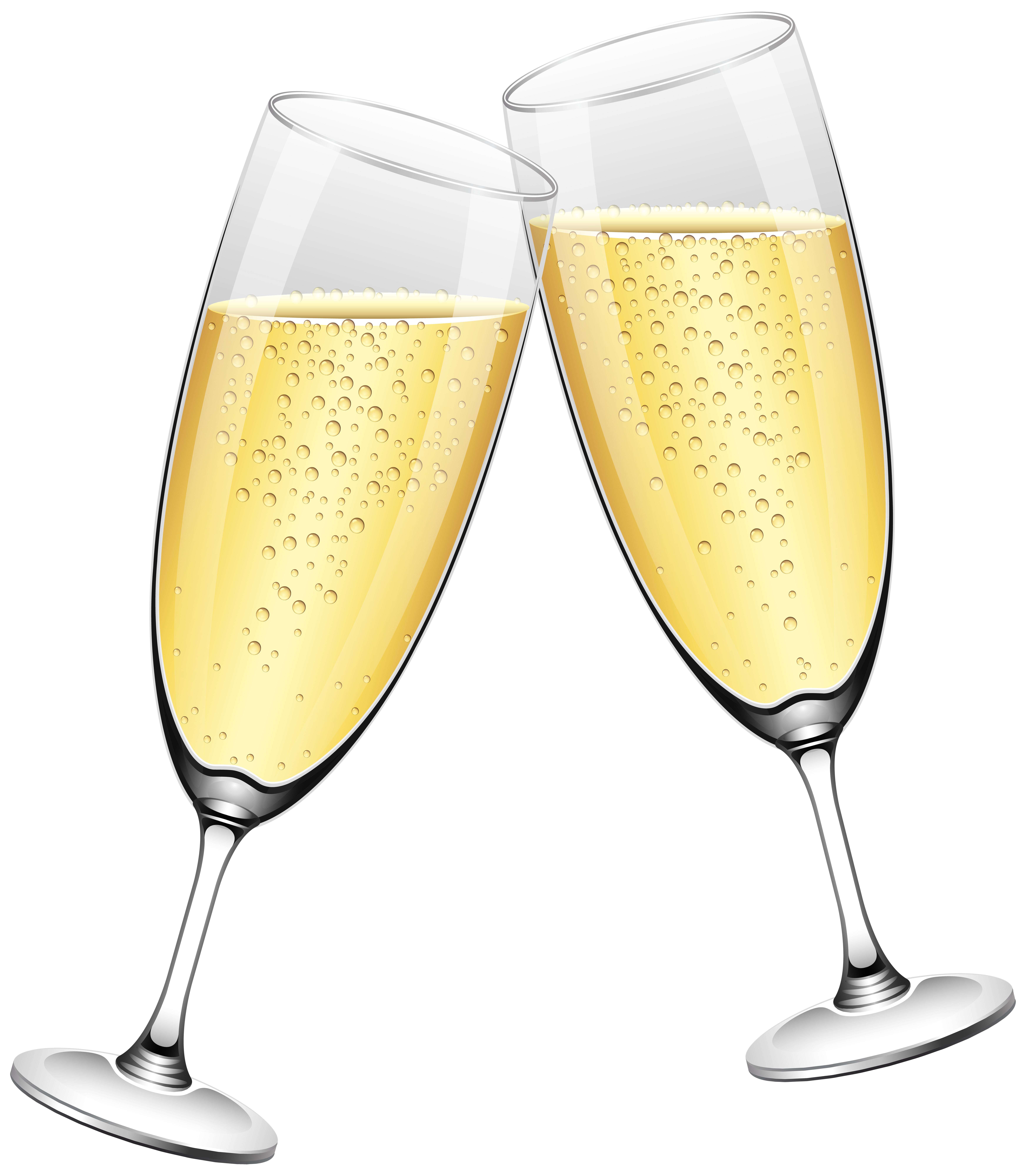 Wedding Champagne Glasses PNG Clip Art.