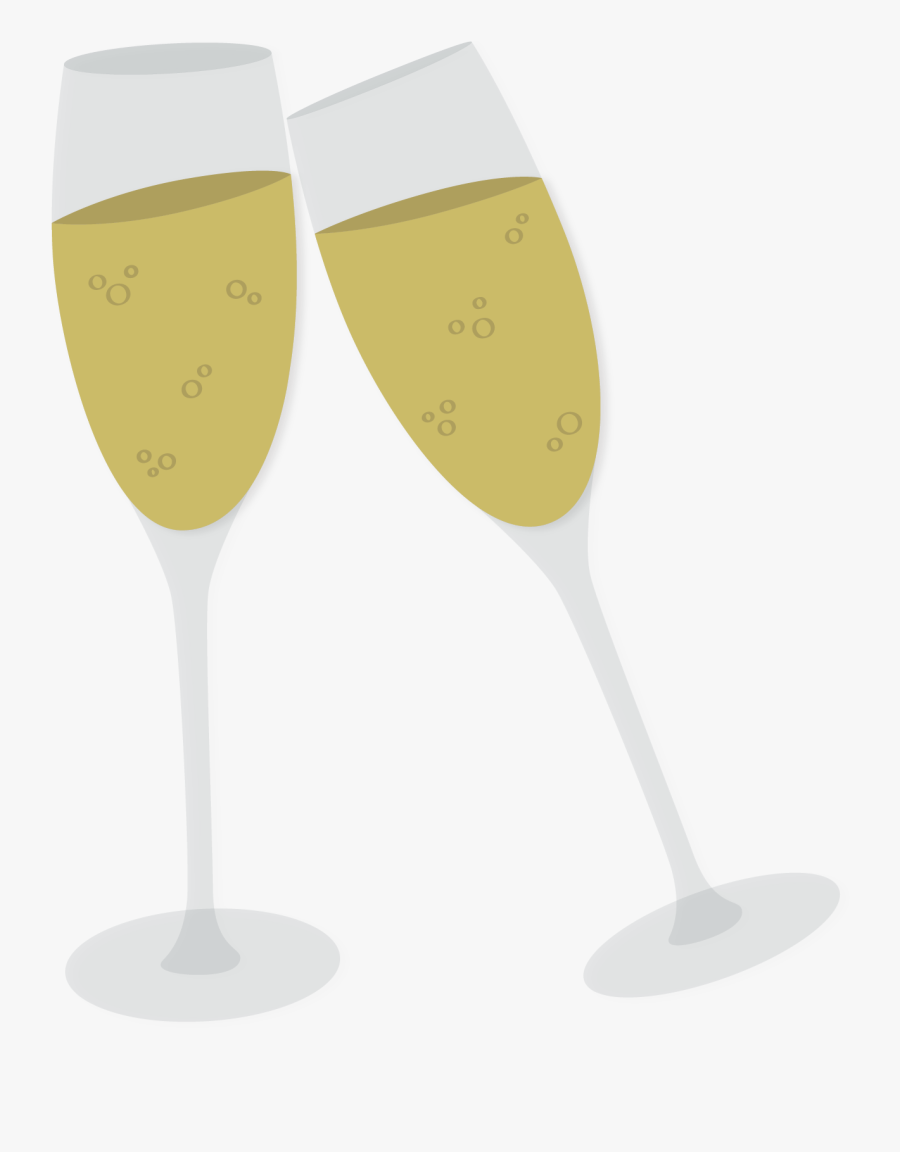 Transparent Clinking Glasses Clipart.