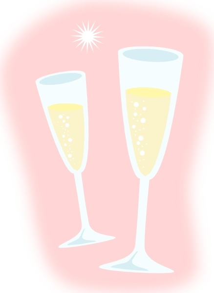 Champagne Glasses clip art Free vector in Open office drawing svg.