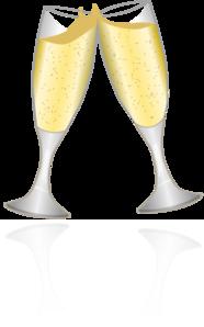 Champagne Glasses 2 Clip Art at Clker.com.