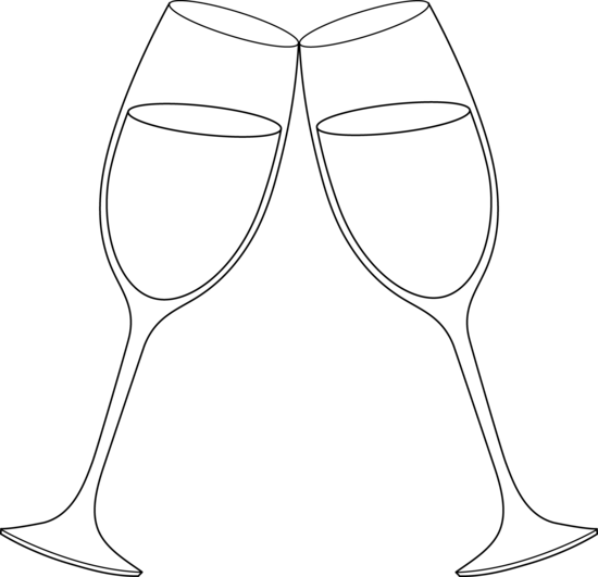 Champagne glasses clip art.