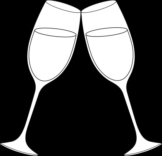 Champagne glasses clip art.