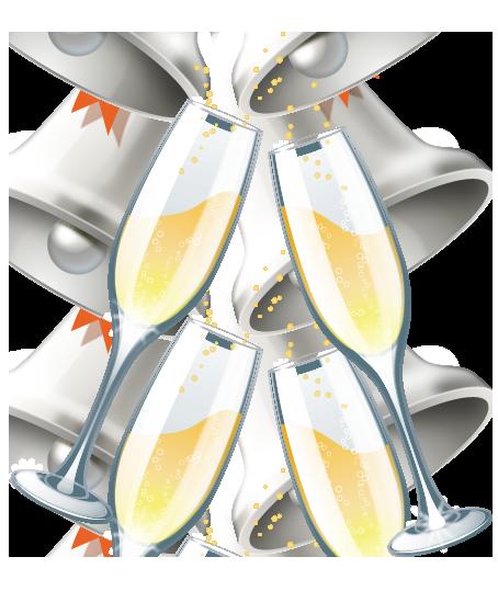 Champagne glasses clipart free.