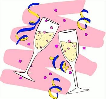Free clipart champagne glasses.