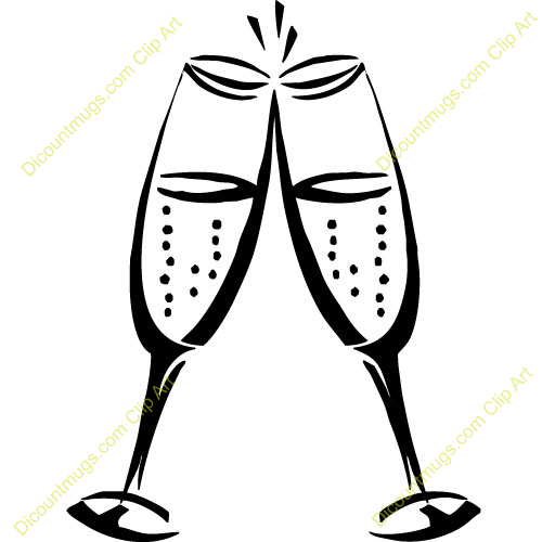 2153 Champagne free clipart.