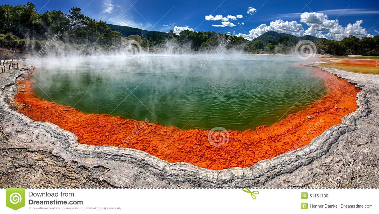 Champagne Lake, Rotorua Stock Photography.