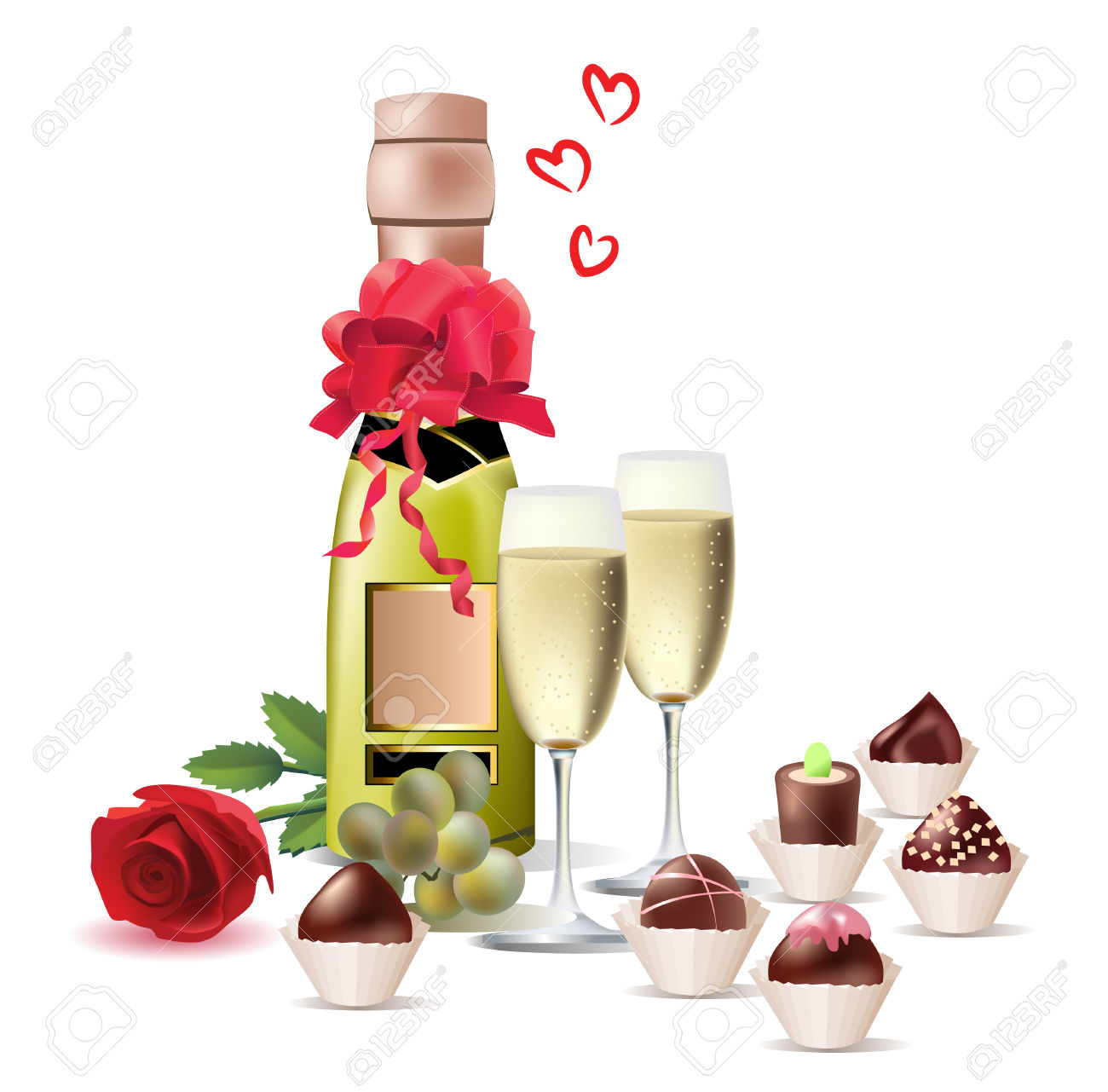 Food And Drink For Rendezvous Royalty Free Cliparts, Vectors, And.