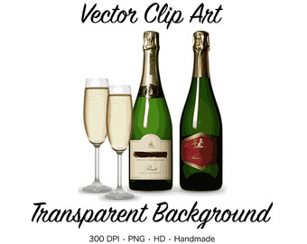 Wine bottle clipart.