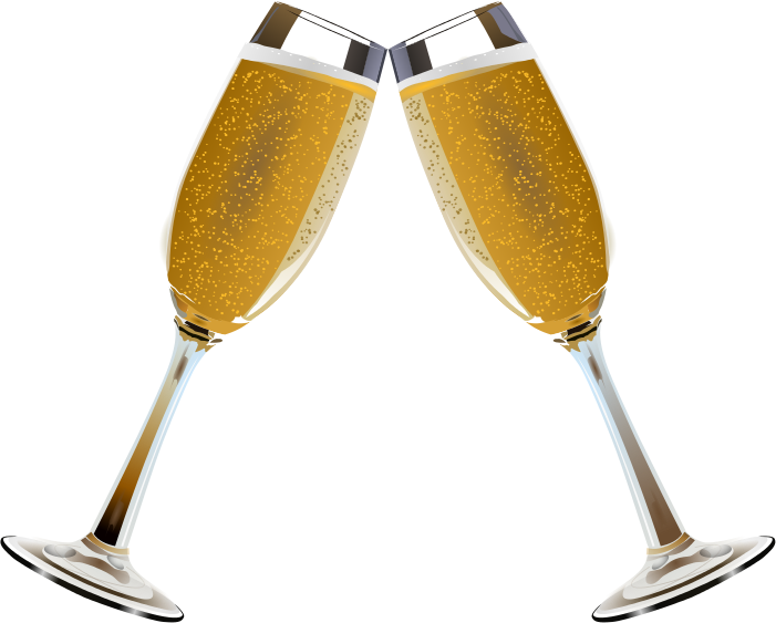Champagne glasses toasting clipart clipart.